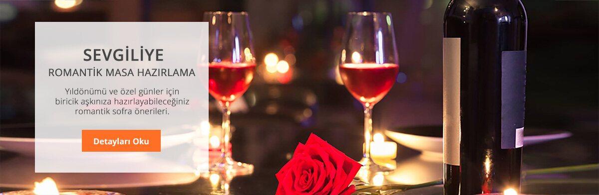romantik yemek masası hazırlama